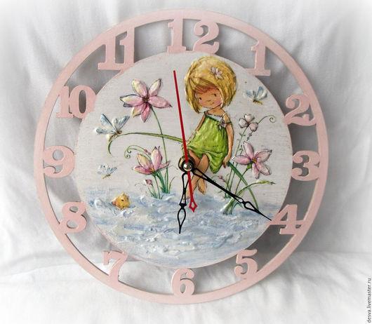 "Часы для дома ручной работы. Ярмарка Мастеров - ручная работа. Купить часы для детской комнаты  ""Три желания"". Handmade."