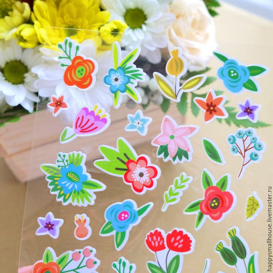 Наклейки на цветы заказать по почте купить розовые розы