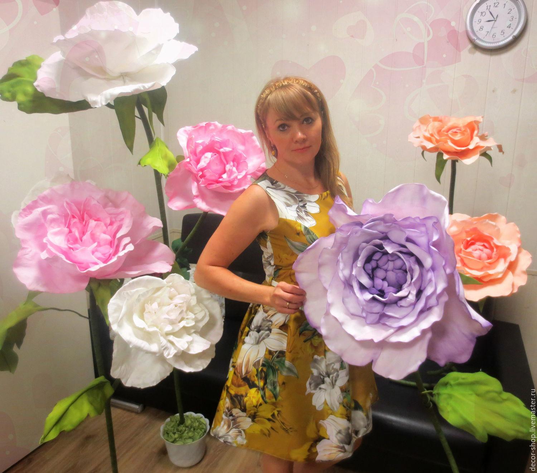 Огромные цветы из фоамирана купить букет из роз с доставкой в ростове-на-дону