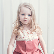 Работы для детей, ручной работы. Ярмарка Мастеров - ручная работа Розовое летнее детское платье. Handmade.