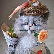 Куклы и игрушки handmade. Livemaster - original item SPRING, HOWEVER! Knitted Tomcat. Handmade.