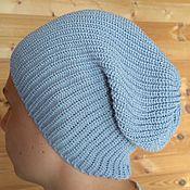 Одежда ручной работы. Ярмарка Мастеров - ручная работа вязаная шапка-бини.. Handmade.