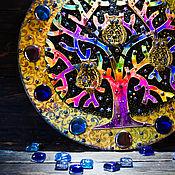 """Для дома и интерьера ручной работы. Ярмарка Мастеров - ручная работа Часы-панно  """"Ночной дозор"""". Handmade."""