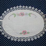 Винтаж handmade. Livemaster - original item Vintage doily with lace. Handmade.