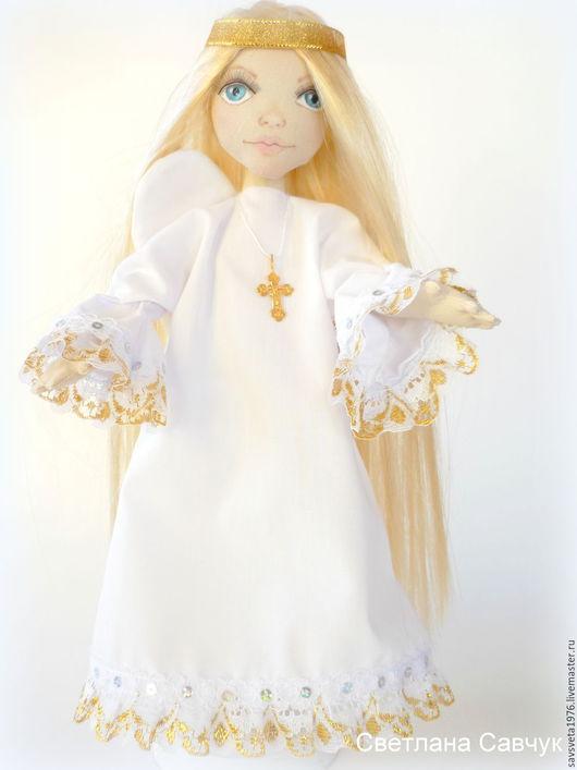 Коллекционные куклы ручной работы. Ярмарка Мастеров - ручная работа. Купить Ангел-хранитель. Handmade. Золотой, ангелочек, кукла в подарок