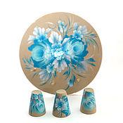 Kolokolchiki handmade. Livemaster - original item Thimbles painted on the pedestal