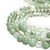Украшения handmade. Livemaster - original item Necklace, Beads, Necklace: aquamarine, amethyst, jade, Majorca and fluorite. Handmade.