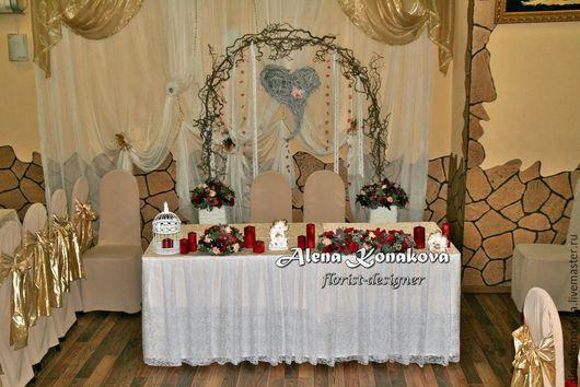 Свадебные цветы ручной работы. Ярмарка Мастеров - ручная работа. Купить Оформление зала на свадьбу. Handmade. Оформление свадьбы