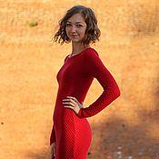 Одежда ручной работы. Ярмарка Мастеров - ручная работа Изумительное яркое вязаное платье в пол, длинное вязаное платье макси. Handmade.