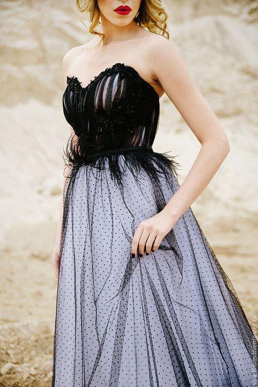 Одежда и аксессуары ручной работы. Ярмарка Мастеров - ручная работа. Купить Чёрное свадебное платье. Handmade. Черный, дизайнерское платье