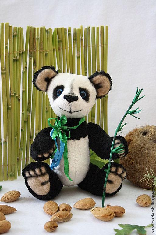 Мишки Тедди ручной работы. Ярмарка Мастеров - ручная работа. Купить Панда Морико. Handmade. Черный, мишка панда, медвежонок