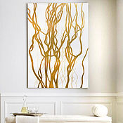 Картины и панно handmade. Livemaster - original item The picture is interior in the style of abstraction Golden Corylus. Handmade.