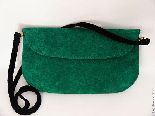 """Женские сумки ручной работы. Ярмарка Мастеров - ручная работа. Купить """"Зеленый бриллиант"""" клатч зеленый. Handmade. Зеленый"""