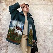 Одежда ручной работы. Ярмарка Мастеров - ручная работа Легкое пальто Моне из лодена. Handmade.