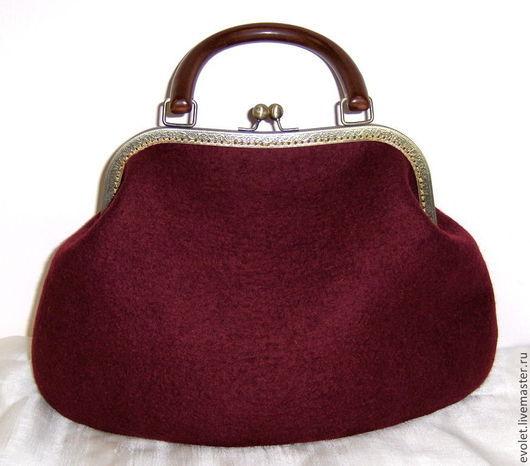 Сумка из натуральной шерсти, сумка войлочная, авторская сумка, купить сумку, стильный аксессуар Горбунова Оксана `Evolet`