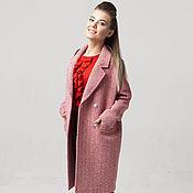 Одежда handmade. Livemaster - original item Coat Red and white wool from AMODAY. Handmade.