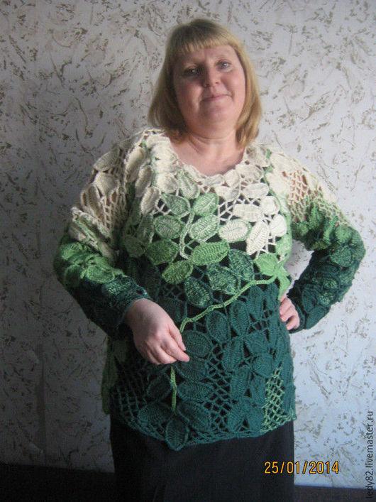 """Кофты и свитера ручной работы. Ярмарка Мастеров - ручная работа. Купить Кофта """"Листопад"""". Handmade. Комбинированный, сцепное кружево"""