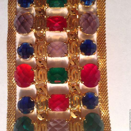 Винтажные украшения. Ярмарка Мастеров - ручная работа. Купить Roberto CAVALLI,Шикарный браслет,оригинал. Handmade. Бренд, браслет с камнями