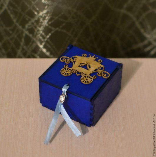 Шкатулки ручной работы. Ярмарка Мастеров - ручная работа. Купить Коробочка для мелочей. Handmade. Тёмно-синий, шкатулка, золушка