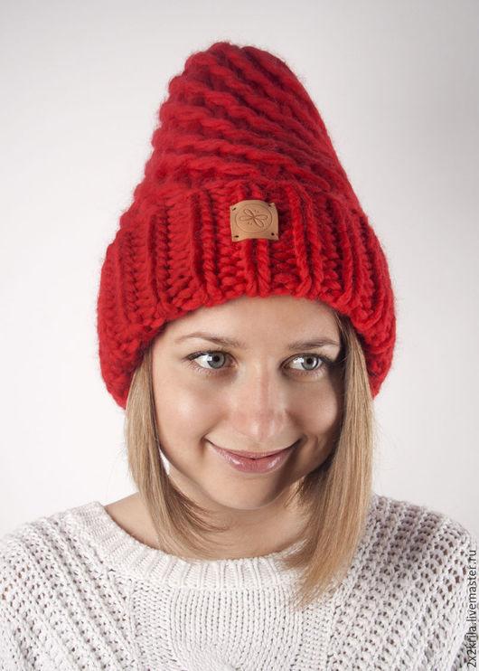 Шапки ручной работы. Ярмарка Мастеров - ручная работа. Купить Шапка «Радикальный красный». Handmade. Красный цвет, зимняя шапка