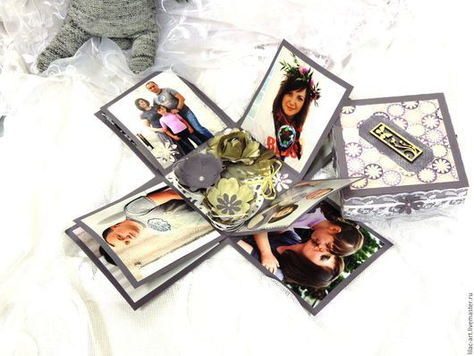Фотоальбомы ручной работы. Ярмарка Мастеров - ручная работа. Купить Фото-бокс семейный. Оригинальный фотоальбом 'Magic box'. Handmade.