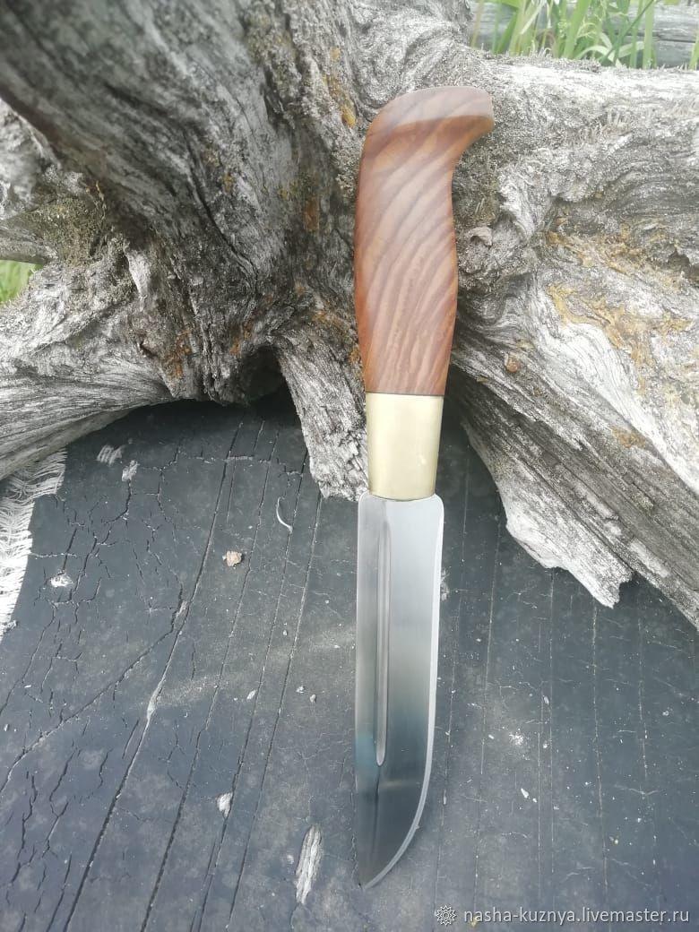 Финка охотничья с рукоятью из торцевого ясеня, Ножи, Челябинск,  Фото №1