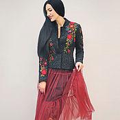 Одежда handmade. Livemaster - original item Elegant jacket with hand embroidery