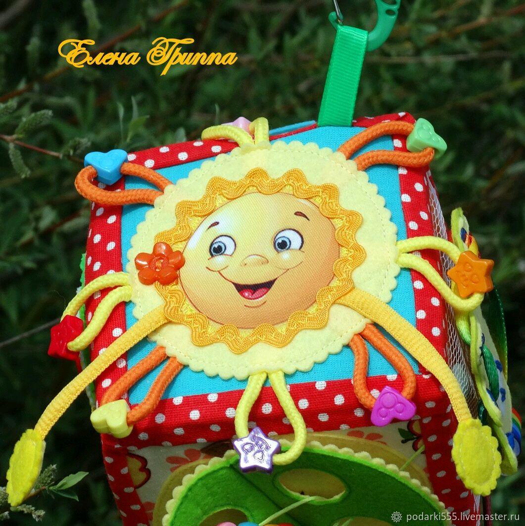 Игрушка в коляску. Развивающий кубик от 6-ти месяцев #9#, Игрушки, Петрозаводск, Фото №1