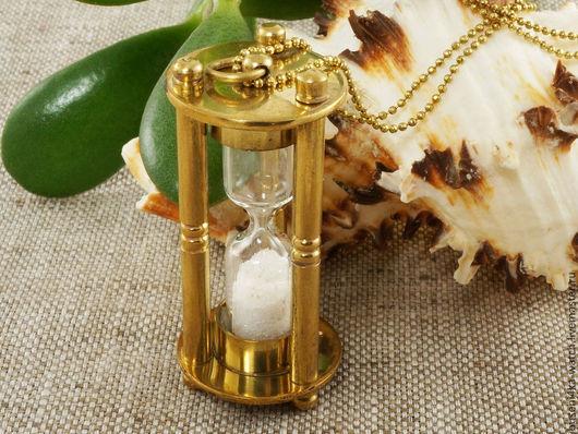 Для украшений ручной работы. Ярмарка Мастеров - ручная работа. Купить Подвеска Песочные часы №5, на цепочке. Handmade.