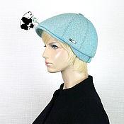 Аксессуары handmade. Livemaster - original item Youth women`s cap. Color Turquoise.. Handmade.