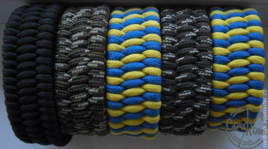 Браслет от CordRom из паракорда, плетение `Трилобит` с большим фастексом.