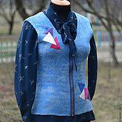 """Одежда ручной работы. Ярмарка Мастеров - ручная работа Жилет валяный """"Jeans"""". Handmade."""