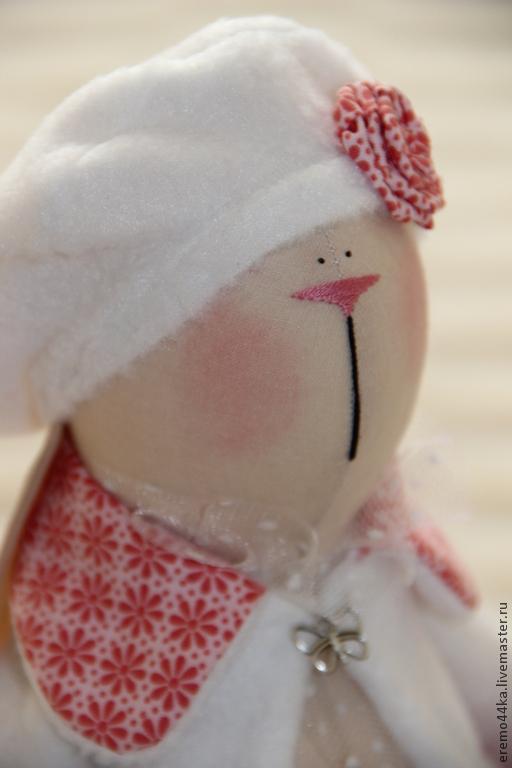 Куклы Тильды ручной работы. Ярмарка Мастеров - ручная работа. Купить Зайка Зефирка. Handmade. Коралловый, тильда заяц
