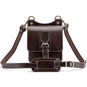 """Сумки и аксессуары handmade. Livemaster - original item Кожаная сумка """"Гиперион"""" (тёмно-коричневая). Handmade."""