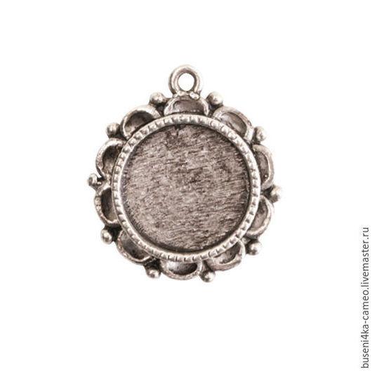 Для украшений ручной работы. Ярмарка Мастеров - ручная работа. Купить Оправа Винтаж 12-13мм, ND античное серебро (1шт). Handmade.