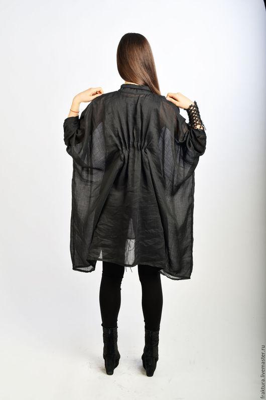 """Блузки ручной работы. Ярмарка Мастеров - ручная работа. Купить Рубашка """" Beauty Black"""" B0051. Handmade. Черная рубашка"""