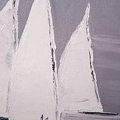 Картины и панно ручной работы. Ярмарка Мастеров - ручная работа Нежные паруса. Handmade.