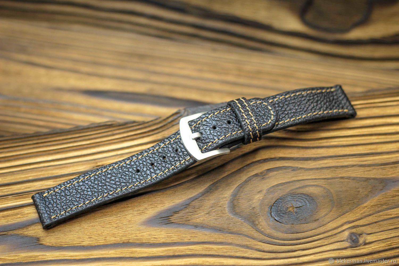 Watch straps 'Classic No. №1 - Elephant black.', Watch Straps, Penza,  Фото №1
