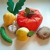 """Куклы и игрушки ручной работы. Ярмарка Мастеров - ручная работа Набор """"Урожай"""" овощи и фрукты в натуральную величину. Handmade."""