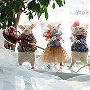 Мягкие игрушки ручной работы. Ярмарка Мастеров - ручная работа Мышки, мимимышки. Проданы.. Handmade.