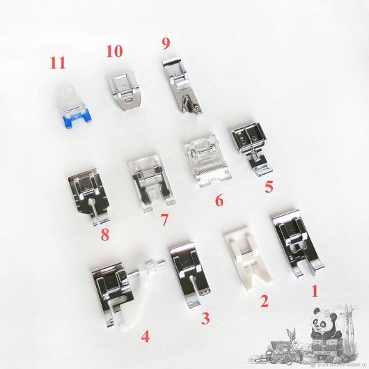 Шитье ручной работы. Ярмарка Мастеров - ручная работа. Купить Набор лапок 11 штук для швейной машины. Handmade. Лапка