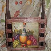 Для дома и интерьера ручной работы. Ярмарка Мастеров - ручная работа Короб для вина двойной. Handmade.