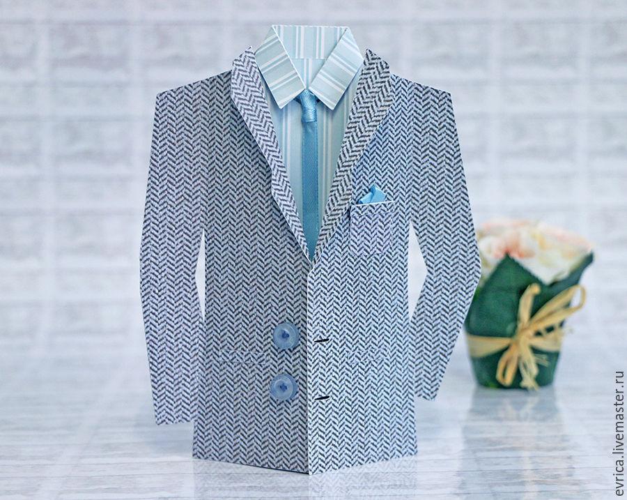 Открытки, мужская открытка с пиджаком