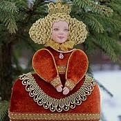 """Подарки к праздникам ручной работы. Ярмарка Мастеров - ручная работа Новогодняя игрушка """"Королева"""". Handmade."""
