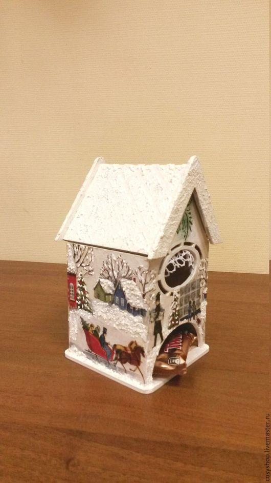 """Кухня ручной работы. Ярмарка Мастеров - ручная работа. Купить Чайный домик """"Зимний праздник"""". Handmade. Комбинированный, чайная шкатулка"""