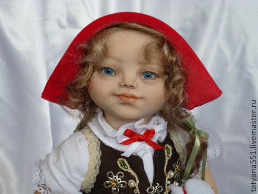 Коллекционные куклы ручной работы. Ярмарка Мастеров - ручная работа. Купить Красная Шапочка. Handmade. Ярко-красный, подарок