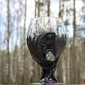 Посуда handmade. Livemaster - original item Beer glass 630ml. Beer Big Glass Iguana with prenit for scales. Handmade.