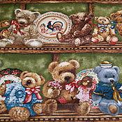 Материалы для творчества ручной работы. Ярмарка Мастеров - ручная работа ткань бордюрная с медвежатами. Handmade.