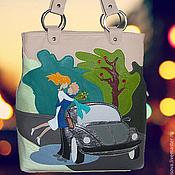 """Сумки и аксессуары ручной работы. Ярмарка Мастеров - ручная работа Кожаная сумка """"Свидание-2"""". Handmade."""