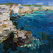Картины и панно handmade. Livemaster - original item Rocky shore Original oil seascape painting. Handmade.